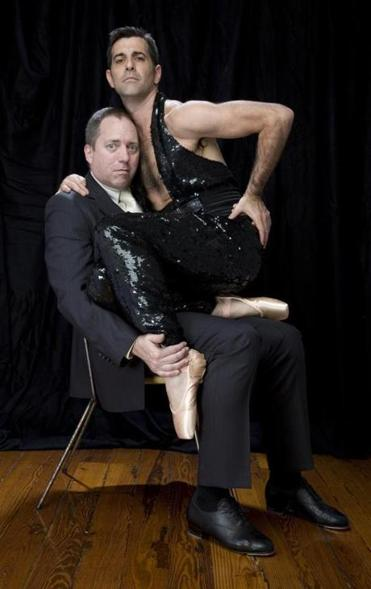 Choreographer David Parker (left) and ''muse'' Jeffrey Kazin star in ''Misters and Sisters'' at Oberon.