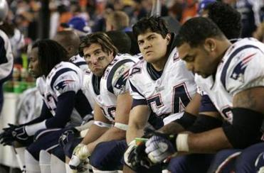 Patriots defenders wore long faces as the seconds ticked off the clock in the fourth quarter.