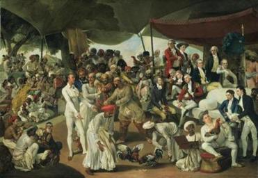 Johan Zoffany, Colonel MordauntÕs Cock Match, 1784Ð86, oil on canvas, © Tate, London; Purchased with assistance from the National Heritage Memorial Fund, the Art Fund, the Friends of the Tate Gallery and a group of donors 1994 13zoffany