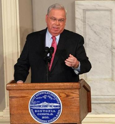 Mayor Thomas Menino laid out his agenda last night in his State of the City address.