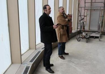 Boston Ma 01/19/2012 Executive Chef /Partner The Aquitaine Group Seth Woods (cq) left and Managing Partner/Chef DeCuisine Chris Robins (cq) right at 500 Harrison Avenue in Boston. They are at the location of a New Restaurant space that is under renovation. Jonathan Wiggs Boston Globe Staff / Photographer Reporter:Section: Magazine:tReporter:Slug
