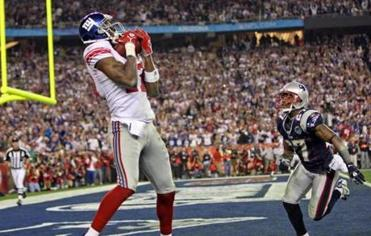 Plaxico Burress caught the game-winning touchdown with 35 seconds remaining.