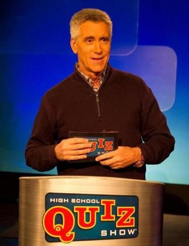 for North - 09noquiz - 1/28/12 Brighton MA Host Billy Costa WGBH produces High School Quiz Show with host Billy Costa. In today's tapings last season's winner Hamilton-Wenham faces Sharon and Acton-Boxborough squares off against Beverly. (Jay Connor for The Boston Globe)