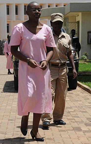 Victoire Ingabire in November 2011, heading into the Rwandan High Court during her trial.