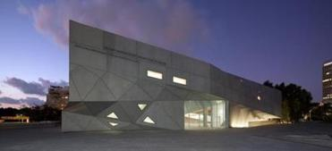 An exterior shot of the new addition to the Tel Aviv Museum of Art in Israel.