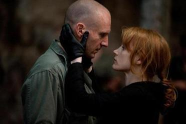 "THIS HANDOUT FILE HAS RESTRICTIONS!!! (L to R) RALPH FIENNES and JESSICA CHASTAIN in ""CORIOLANUS"" a 2011 film directed by Ralph Fiennes. NYTCREDIT: Larry D. Horricks/Weinstein Company 15fiennes"