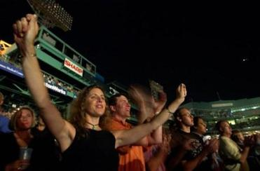 A packed house of fans turned out to cheer Springsteen.