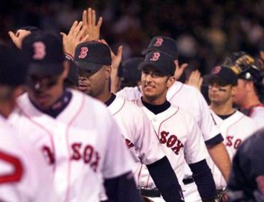 Nomar Garciaparra had a home run and three singles.