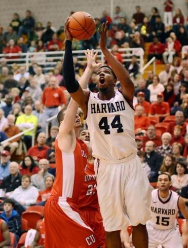 Harvard's Keith Wright attempted a shot against Cornell.