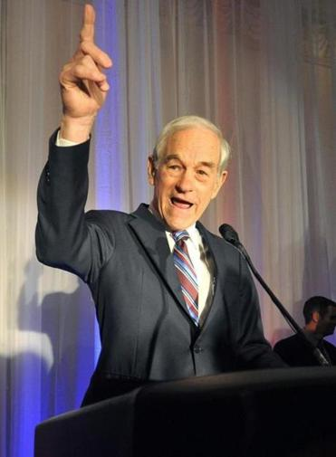 US Rep. Ron Paul spoke to supporters Tuesday night in Fargo, N.D.