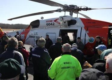 Those attending had a chance to check out a Jayhawk helicopter used in rescues at sea.