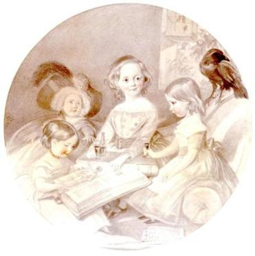 Dickens children pencil drawing from the Charles Dickens Museum.