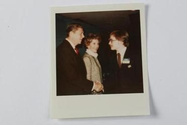 Norquist chats with Ronald and Nancy Reagan at a Massachusetts fund-raiser during the 1980 campaign.