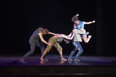 Company cofounder John Michael Schert and fellow dancers Brett Perry, Jason Hartley, and Chanel DaSilva performing ''The Sweeter End.''