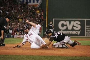 Kevin Youkilis' run in the second inning gave the Red Sox a 4-1 lead.