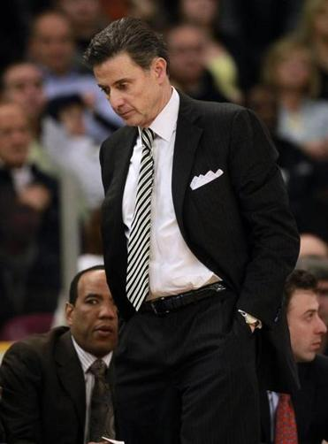 Louisville coach Rick Pitino was not happy after a loss at Providence on Jan. 10.