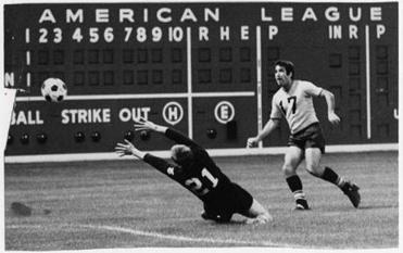 The Boston Beacons of the NASL called Fenway Park home in 1968.