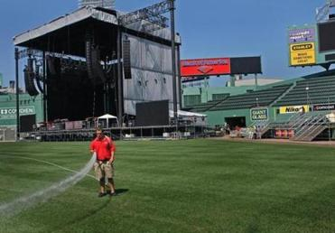 The Red Sox have brought music concerts back to Fenway Park in recent years. This stage was set up for a Neil Diamond concert in 2008.