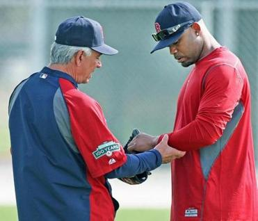 Valentine has taken a hands-on approach to players such as Carl Crawford.