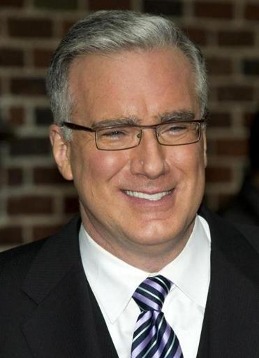 "Keith Olbermann leaves a taping of the ""Late Show with David Letterman"" in October."