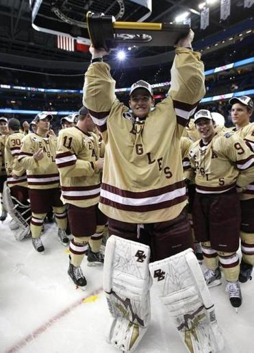NCAA: BC Goalie Parker Milner Has Plenty To Savor