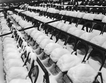 A snow-covered Fenway from 1940.