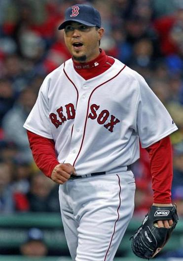 Josh Beckett threw seven innings for the Red Sox.