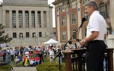 Gary Johnson, former governor of New Mexico, was among the speakers at the fourth annual Tax Day Tea Party Rally in Worcester organized by the Worcester Tea Party.