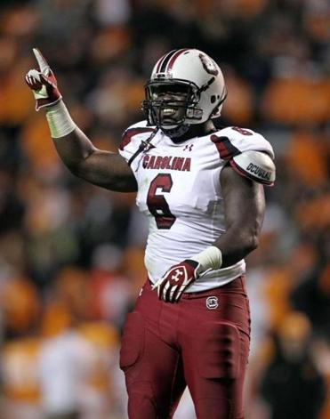 South Carolina's Melvin Ingram had 26 tackles for a loss and 19 sacks the past two seasons.
