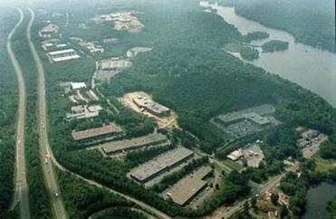 An aerial view of the EMC complex.