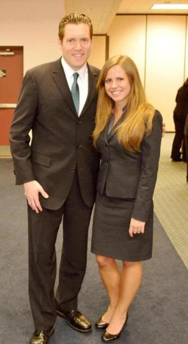 MarryRose Mazzola will defer graduate school to work as campaign manager for State Senator Barry Finegold (left).