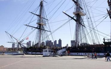 The USS Constitution.