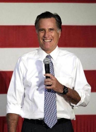 Mitt Romney spoke at a campaign stop Thursday in Omaha, Neb.