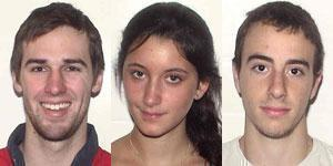 (Left to right) Roch Jauberty, Daniela Lekhno, and Austin Brashears.