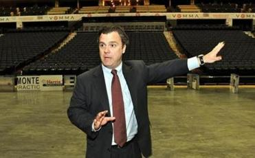 Stephen J. Kerrigan, the chief executive of the Democratic National Convention, checked out Time Warner Cable Arena.