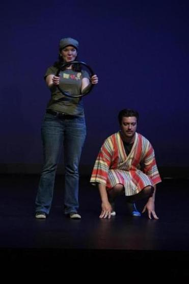 "Becca A. Lewis and Michael Fisher in Danny Sklar's ""Lycanthropy,'' about a cabbie and a man who claims he is able to turn into a wolf at will."