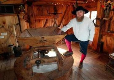 """Leo the Miller"" leads the Jenney Grist Mill Tours in Plymouth."