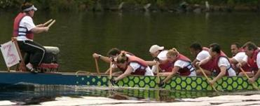 The Verizon dragon boat competes in the Dragon Boat Festival on the Charles River in Cambridge.