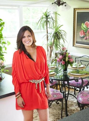 Keep your party ambitions realistic, says event planner Nivia Pina, at her home in Woburn.