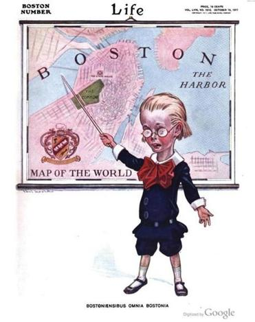 The cover of an Oct. 19, 1911 issue of Life about Boston.