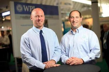 Glenn Gaudette, right, of Worcester Polytechnic Institute, is an associate professor of biomedical engineering at WPI and is the co-founder of the company VitaThreads. Harry Wotton is the co-founder and CEO of the company.