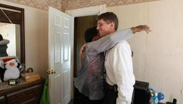 When he arrived at another appointment, Dr. Daniel Oates was greeted by Marion Mills, the daughter of a patient.