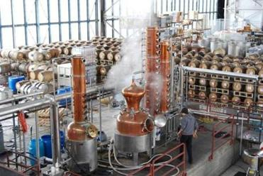 The distillery at St. George Spirits.