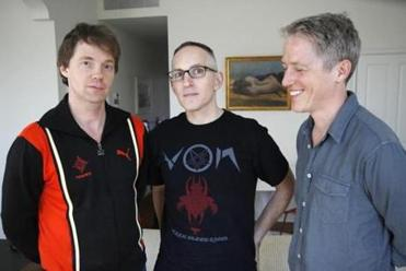 Reunited for their current tour, Codeine's trio (from left) of drummer Chris Brokaw, bassist-singer Stephen Immerwahr, and guitarist John Engle.