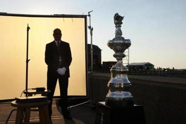 The shiny America's Cup is back in Newport for the first time since 1983, when it was lost to Australia.