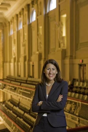 Nina Jung, in-house event designer for the Boston Symphony Orchestra.