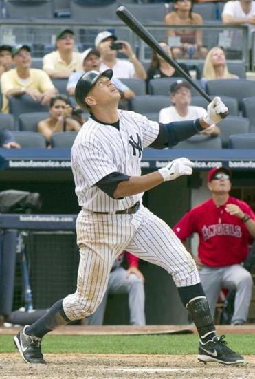 Alex Rodriguez pops out with the bases loaded to seal the Yankees' loss.