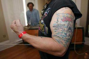 Sommerset native Stan Trafka got his JAWS tattoo eight years ago.