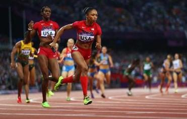 Allyson Felix added the 4x400-meter relay gold to those she had won earlier in  the 4x100 relay and 200-meter sprint.