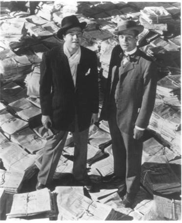 "Orson Welles (left) and Joseph Cotten in ''Citizen Kane,"" the former top film in the Sight & Sound poll."